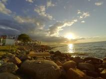 Med solköket på stranden